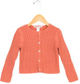 Bonpoint Girls' Rib Knit Button-Up Cardigan