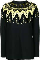 Ermanno Scervino sequin embellished zigzag jumper