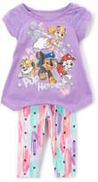 Children's Apparel Network PAW Patrol Purple Swing Top & Pastel Leggings - Toddler