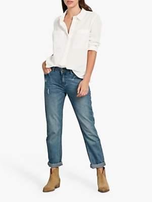 Hush Fenella Cotton Shirt, Off White