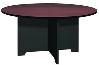 Ironwood Modular Circular Meeting Table Base Finish: Black, Top Finish: Mahogany, Size: 5' L