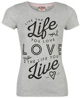 Lee Cooper Womens Fashion T Shirt Tee Top Short Sleeve Round Crew Neck Print