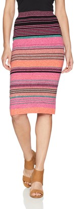 BCBGMAXAZRIA Women's Striped Body Con Knit Pencil Skirt