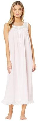 Eileen West Cotton Swiss Dot Woven Sleeveless Ballet Nightgown (Rose) Women's Pajama