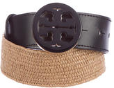 Tory Burch Straw Logo Belt