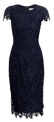 Lela Rose Women's Floral Guipure Lace Sheath Dress
