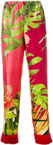 F.R.S For Restless Sleepers - leaf print pyjama trousers - women - Silk - M