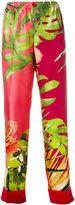 F.R.S For Restless Sleepers - leaf print pyjama trousers - women - Silk - XS