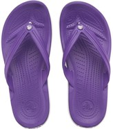 Crocs Adults Crocband Flip Flops Neon Purple/White