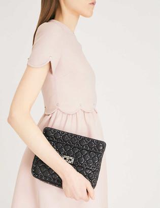 Valentino Rockstud Spike quilted leather medium shoulder bag