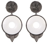 House Of Harlow Drop White Agate Statement Earrings