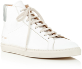 Common Projects White Calf Leather Achilles High Top Sneakers