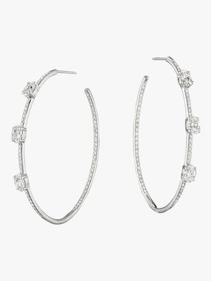 Mimi So Couture Oval Diamond Lula Hoops