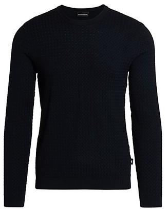 Emporio Armani Textured Wool-Blend Sweater