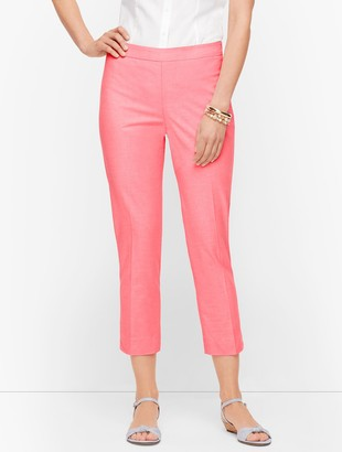 Talbots Chatham Crop Pants - Oxford Stripe