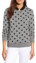 Petite Women's Halogen Removable Collar Sweatshirt
