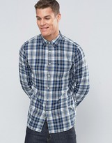 Jack Wills Shirt In Regular Fit In Flannel Check In Blue/White