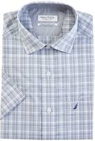 Nautica Classic Fit Wrinkle Resistant Estate Plaid Short Sleeve Shirt
