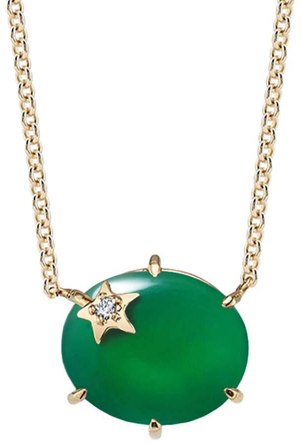 Andrea Fohrman Green Onyx Mini Galaxy Star Necklace - Yellow Gold