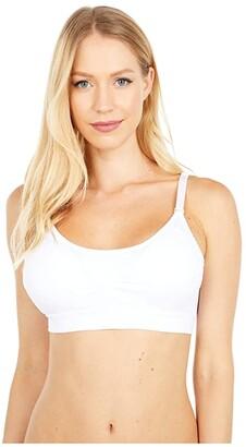 Joy Bra Full Size Seamless Scoop Neck (White) Women's Clothing