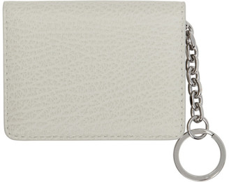 Maison Margiela Off-White Bifold Keychain Card Holder