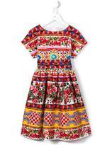 Dolce & Gabbana Carretto Con Rose dress - kids - Cotton - 3 yrs