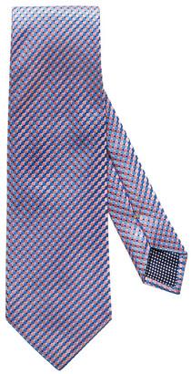 Eton Micro Circle Silk Tie, Pink/Blue
