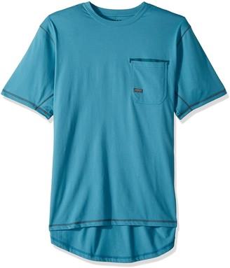 Ariat Men's REBAR Short Sleeve Crew Blue XX-Large