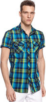 INC International Concepts Shirt, Ram Plaid Shirt