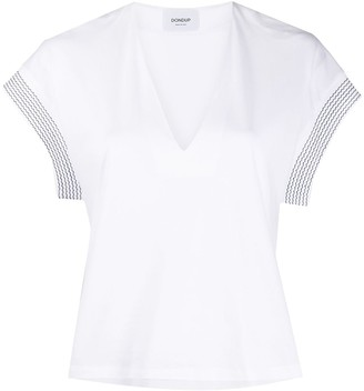 Dondup contrasting cuff cotton T-shirt