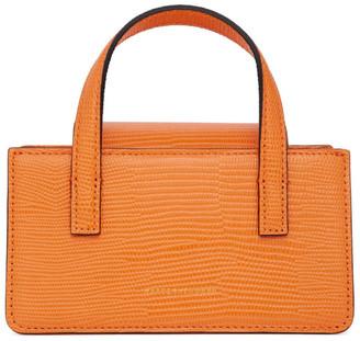 Marge Sherwood Orange Lizard-Embossed Mini Grandma Bag