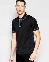 Original Penguin Heritage Slim Fit Polo Shirt with Tonal Piping Detail