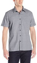Perry Ellis Men's Stripe Texture Shirt with Chest Pocket