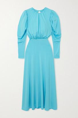 Rotate by Birger Christensen Laura Open-back Jersey Midi Dress - Azure