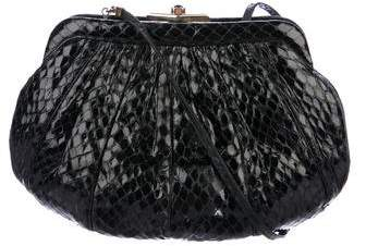 Judith Leiber Snakeskin Crossbody Bag