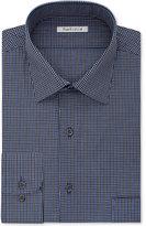 Van Heusen Men's Classic-Fit Wrinkle-Free Blue Multi-Check Dress Shirt