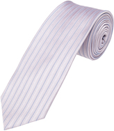 Oxford Silk Tie Stripe Reg Pink Stripe X