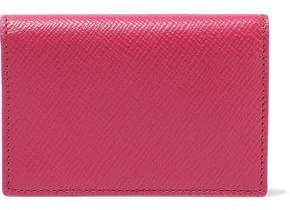 Smythson Panama Textured-leather Cardholder
