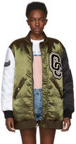 Opening Ceremony Reversible Green and Black Limited Edition Babydoll Bomber Jacket