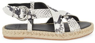Marc Fisher Talia2 Snake-Print Leather Sandals