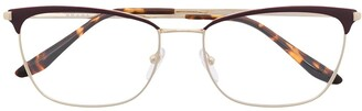 Prada Square-Frame Clear-Lens Glasses