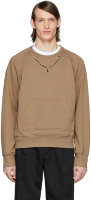 Neil Barrett Brown Chain Sweatshirt