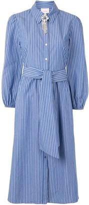 Cinq à Sept Stripe Print Shirt Dress