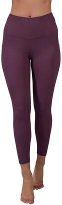 90 Degree By Reflex Nude Tech High Waist Side Pocket Ankle Length Leggings