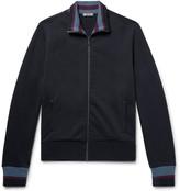 Bottega Veneta Striped Loopback Cotton-Jersey Track Jacket