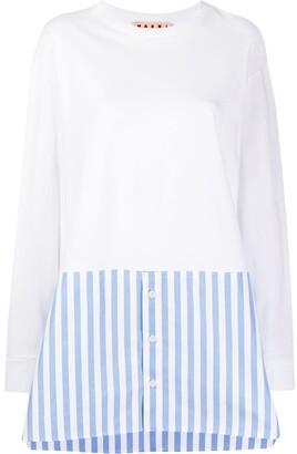 Marni striped hem long-sleeved T-shirt