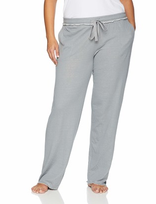 Hue Women's Solid Knit Long Pajama Sleep Pant