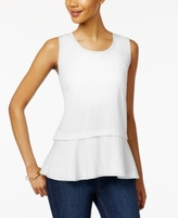 Style&Co. Style & Co Style & Co Petite Cotton Peplum Top, Created for Macy's
