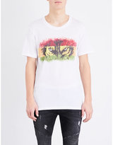 Balmain Wolf Eyes Cotton-jersey T-shirt