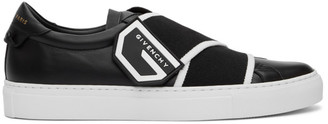 Givenchy Black Crossed Strap Urban Street Sneakers